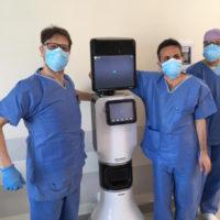 Robot per visite al paziente con medico in remoto all'ospedale di Rimini per Covid