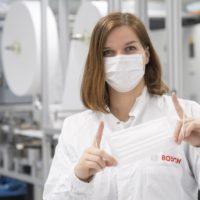 Bosch avvia linee di produzione di mascherine protettive completamente automatizzate