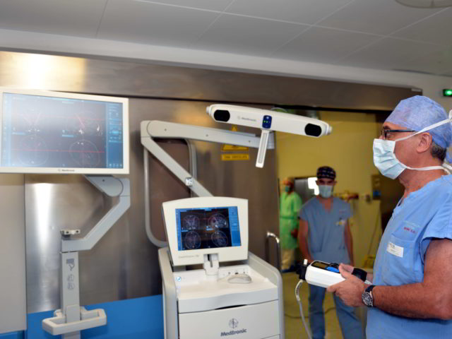 A Padova biopsia cerebrale eseguita con braccio robotico