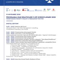 Lean Healthcare e Lifescience awards 2020: lavorare sulle inefficienze per riorganizzare la sanità