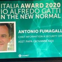 ASST Papa Giovanni XXIII di Bergamo: CIO+ Italia award 2020 ad Antonio Fumagalli per l'innovazione digitale