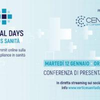 Digital Days Focus Sanità: martedì 12 gennaio la conferenza stampa