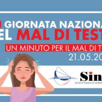XIII Giornata Nazionale del Mal di Testa: al v ia una campagna di sensibilizzazione SIN, ANIRCEF e SISC