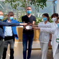 Un visore al day hospital pediatrico di Trento