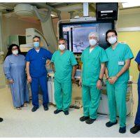Operati in un'unica seduta due aneurismi cerebrali grazie ad una mini sonda introdotta dall'arteria femorale